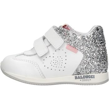 Scarpe Bambino Sneakers alte Balducci - Polacchino bianco CSPO3905 BIANCO