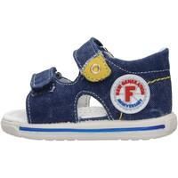 Scarpe Bambino Sandali Falcotto - Sandalo jeans NEMO-0C06 BLU