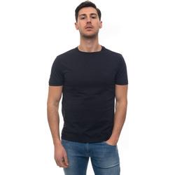 Abbigliamento Uomo T-shirt maniche corte Fay T-shirt girocollo mezza manica Blu Cotone Uomo blu