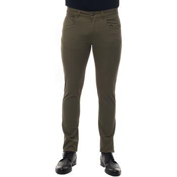 Abbigliamento Uomo Chino Fay Pantalone 5 tasche Verde Cotone Uomo verde