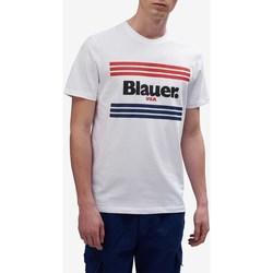 Abbigliamento Uomo T-shirt maniche corte Blauer 20sbluh02178-004547 Bianco