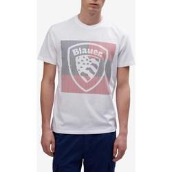 Abbigliamento Uomo T-shirt maniche corte Blauer 20sbluh02179-004547 Bianco