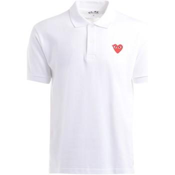 Abbigliamento Uomo T-shirt & Polo Comme Des Garcons Polo Comme Des Garcons PLAY bianca con cuore rosso Bianco