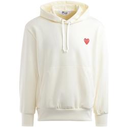 Abbigliamento Uomo Felpe Comme Des Garcons Felpa  avorio con cuore rosso Bianco