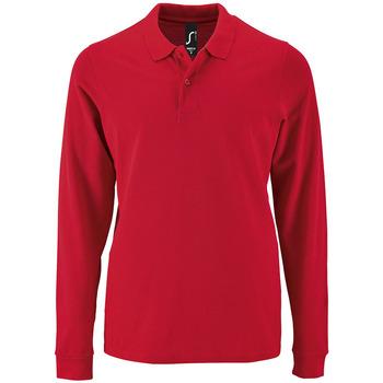 Abbigliamento Uomo Polo maniche lunghe Sols PERFECT LSL COLORS MEN Rojo