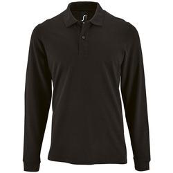 Abbigliamento Uomo Polo maniche lunghe Sols PERFECT LSL COLORS MEN Negro