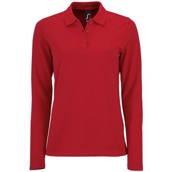 Abbigliamento Donna Polo maniche lunghe Sols PERFECT LSL COLORS WOMEN Rojo