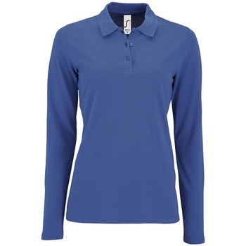 Abbigliamento Donna Polo maniche lunghe Sols PERFECT LSL COLORS WOMEN Azul