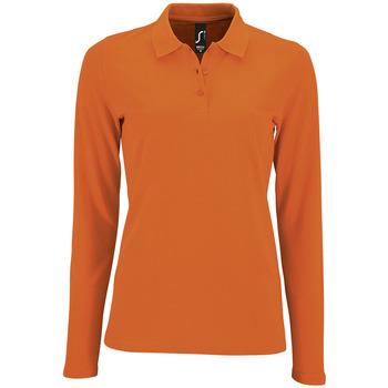 Abbigliamento Donna Polo maniche lunghe Sols PERFECT LSL COLORS WOMEN Naranja