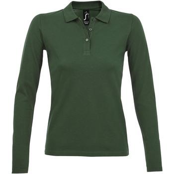 Abbigliamento Donna Polo maniche lunghe Sols PERFECT LSL COLORS WOMEN Verde