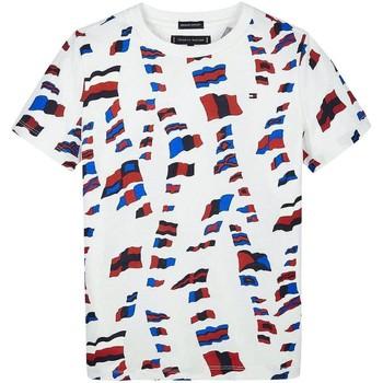 Abbigliamento Bambino T-shirt maniche corte Tommy Hilfiger AOP TEE rosso