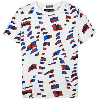 Abbigliamento Bambino T-shirt maniche corte Tommy Hilfiger Kids AOP TEE rosso