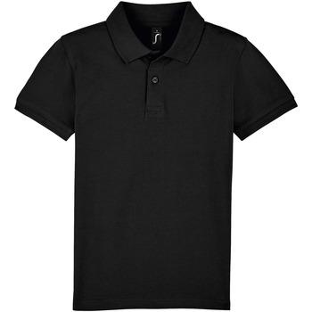 Abbigliamento Unisex bambino Polo maniche corte Sols PERFECT KIDS COLORS Negro