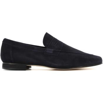 Scarpe Uomo Mocassini Antica Cuoieria scarpe uomo mocassini 20115-A-V07 AMALFI BLU Cuoio