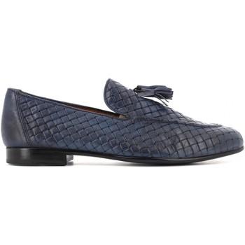 Scarpe Uomo Mocassini Antica Cuoieria scarpe uomo mocassini 22043-8-VB5 OYSTER INTRECCIO BLU Pelle