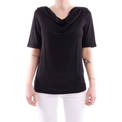 Abbigliamento Donna T-shirt maniche corte White.7 T-SHIRT IN LINO Black