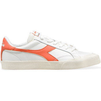 Scarpe Sneakers basse Diadora MELODY LEATHER DIRTY BIANCO-ROSSO CAMELIA
