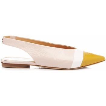 Scarpe Donna Ballerine Halmanera Scarpe Ballerine-Chanel Lali04 Tricolore nudo, bianco, giallo