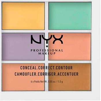 Bellezza Donna Contorno occhi & correttori Nyx Conceal Correct Contour Palette 6x1,5 Gr