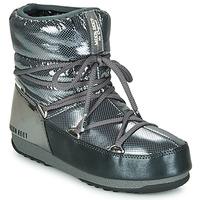 Scarpe Donna Stivali da neve Moon Boot MOON BOOT LOW SAINT MORITZ WP Grigio