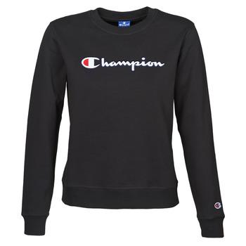 Abbigliamento Donna Felpe Champion HEAVY COMBED COTTON FLEECE Nero