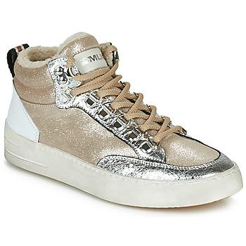 Scarpe Donna Sneakers alte Meline STRA5056 Beige / Oro