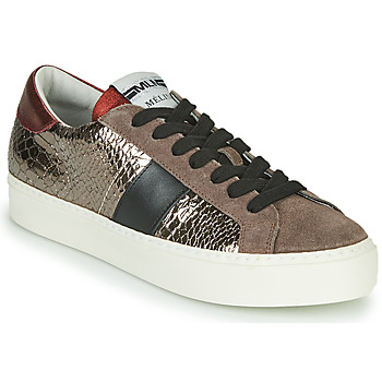 Scarpe Donna Sneakers basse Meline PL1810 Bronzo / Rosso