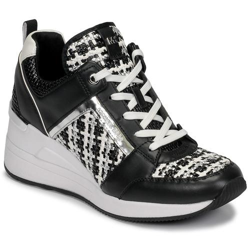 Scarpe Donna Sneakers basse MICHAEL Michael Kors GEORGIE TRAINER Nero / Bianco