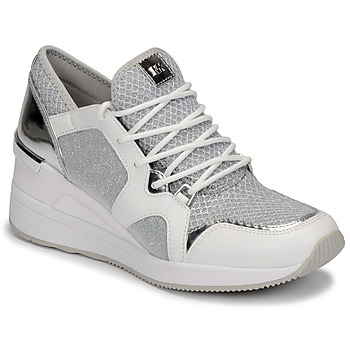 Scarpe Donna Sneakers basse MICHAEL Michael Kors LIV TRAINER Bianco / Argento