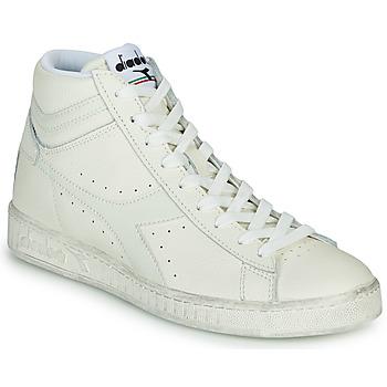 Scarpe Sneakers alte Diadora GAME L HIGH WAXED Bianco