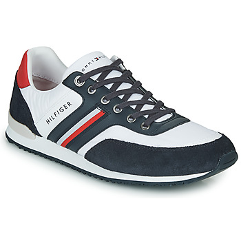 Scarpe Uomo Sneakers basse Tommy Hilfiger ICONIC MATERIAL MIX RUNNER Bianco / Blu / Rosso