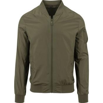 Abbigliamento Giubbotti Build Your Brand BY045 Verde oliva