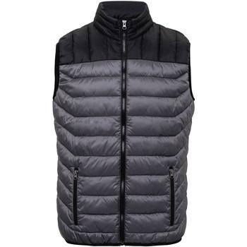 Abbigliamento Uomo Piumini 2786 TS028 Acciaio/Nero