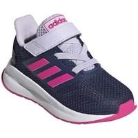Scarpe Unisex bambino Running / Trail adidas Originals Runfalcon I Bianco, Blu marino