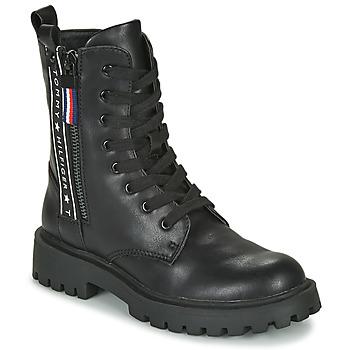 Scarpe Unisex bambino Stivaletti Tommy Hilfiger T3A5-30851 Nero