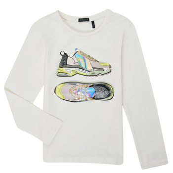 Abbigliamento Bambina T-shirts a maniche lunghe Ikks XR10172 Bianco