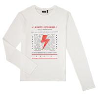 Abbigliamento Bambino T-shirts a maniche lunghe Ikks XR10023 Bianco