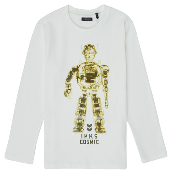 Abbigliamento Bambino T-shirts a maniche lunghe Ikks XR10233 Bianco