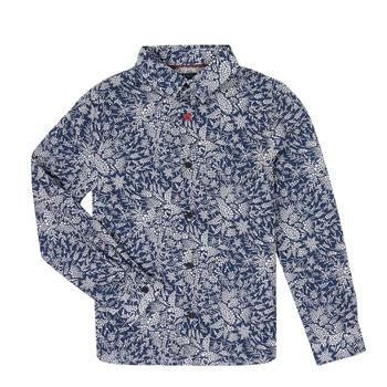 Abbigliamento Bambino Camicie maniche lunghe Ikks XR12023 Blu