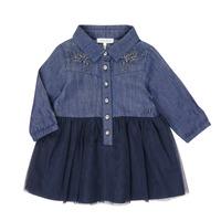 Abbigliamento Bambina Abiti corti Ikks XR30150 Blu