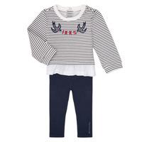 Abbigliamento Bambina Completo Ikks XR36030 Marine / Bianco