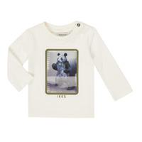 Abbigliamento Bambino T-shirts a maniche lunghe Ikks XR10101 Bianco