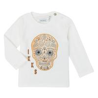 Abbigliamento Bambino T-shirts a maniche lunghe Ikks XR10141 Bianco