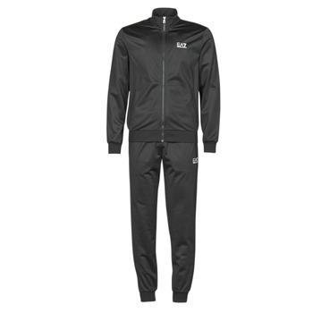 Abbigliamento Uomo Tuta Emporio Armani EA7 TRAIN CORE ID M T-SUIT TT FZ CH PL Nero
