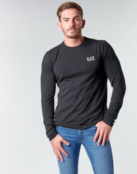 Abbigliamento Uomo T-shirts a maniche lunghe Emporio Armani EA7 TRAIN CORE ID M TEE LS ST Nero / Logo / Bianco