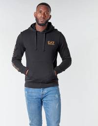 Abbigliamento Uomo Felpe Emporio Armani EA7 TRAIN LOGO SERIES M HOODIE RN COFT Nero