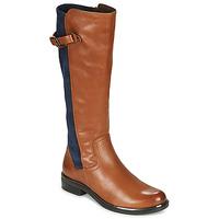 Scarpe Donna Stivali Caprice 25504-387 Cognac / Blu