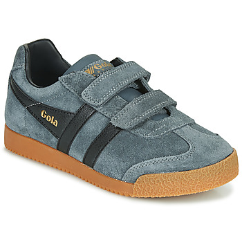 Scarpe Unisex bambino Sneakers basse Gola HARRIER VELCRO Grigio / Nero