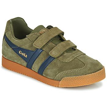 Scarpe Unisex bambino Sneakers basse Gola HARRIER VELCRO Kaki / Marine
