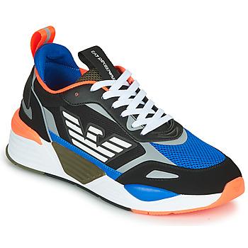Scarpe Uomo Sneakers basse Emporio Armani EA7 XK165 Nero / Blu / Arancio